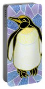 Penguin On Stained Glass Portable Battery Charger