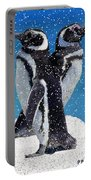 Penguins In The Snow Portable Battery Charger