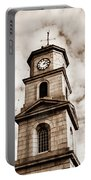 Penryn Clock Tower In Sepia Portable Battery Charger