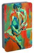 Pensive Male Figure Portable Battery Charger