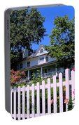Peonies And Picket Fences Portable Battery Charger