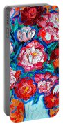 Peonies Bouquet Portable Battery Charger