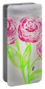 Peonies In Bloom Portable Battery Charger