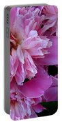 Peonies Under The Weather Portable Battery Charger