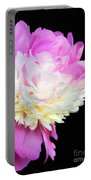 peony 16 Double Pink Peony Macro Portable Battery Charger