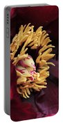 peony 23 Deep Red Tree Peony Macro Portable Battery Charger