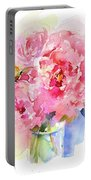 Peony Bouquet Portable Battery Charger