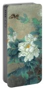 Peony Butterfly Portable Battery Charger
