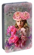 Peony Flower Child Portable Battery Charger