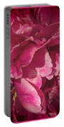 Peony In The Rain Portable Battery Charger