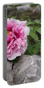 Peony On The Rocks - The Marvels Of Spring Portable Battery Charger