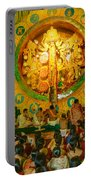 People Enjoying Inside Durga Puja Pandal Durga Puja Festival Portable Battery Charger