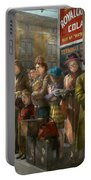 People - People Waiting For The Bus - 1943 Portable Battery Charger