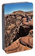 People View Horseshoe Bend Rock Edge  Portable Battery Charger