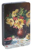 Still-life With Sunflowers Portable Battery Charger