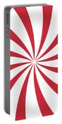 Peppermint Swirl Portable Battery Charger