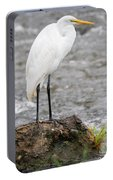 Perched Great Egret Portable Battery Charger