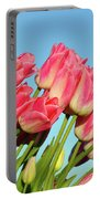 Perfect Pink Tullips Portable Battery Charger