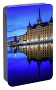 Perfect Riddarholmen Blue Hour Reflection Portable Battery Charger