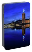 Perfect Stockholm City Hall Blue Hour Reflection Portable Battery Charger