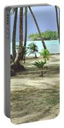 Perfect Tropical Paradise Islands With Turquoise Water And White Sand Portable Battery Charger