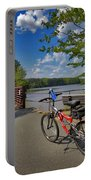 Perfect Weather For Cycling At Lake Brandt Portable Battery Charger