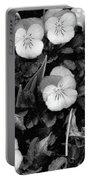 Perfectly Pansy 18 - Bw - Water Paper Portable Battery Charger