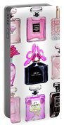 Perfume Set Black And Pink Portable Battery Charger