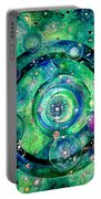 Universe Inside Of Electrons. Periodic Table Of The Elements Portable Battery Charger