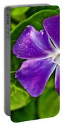 Periwinkle At Pilgrim Place In Claremont-california Portable Battery Charger