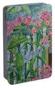 Perky Pink Phlox In A Dahlonega Garden Portable Battery Charger