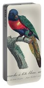 Perruche A Tete Bleue, Male / Rainbow Lorikeet, Male - Restored 19th Cent. Illustration By Barraband Portable Battery Charger