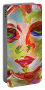 Persistence - Contemporary Art Face Portable Battery Charger