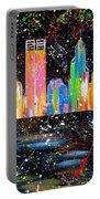 Perth Skyline Alla Pollock  Portable Battery Charger
