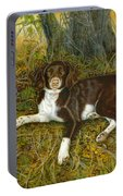 Pet Portrait - Springer Spaniel, Milly Portable Battery Charger