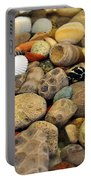 Petoskey Stones With Shells Ll Portable Battery Charger