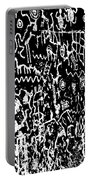 Petroglyphs Vertical Black And White Portable Battery Charger