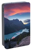 Peyto Lake At Dusk Portable Battery Charger