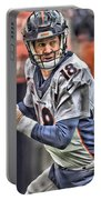 Peyton Manning Art 1 Portable Battery Charger