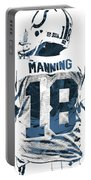 Peyton Manning Indianapolis Colts Pixel Art Portable Battery Charger