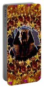 Pharaoh In The Starry Night Portable Battery Charger