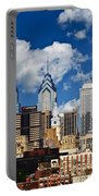 Philadelphia Blue Skies Portable Battery Charger by Bill Cannon