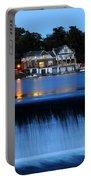 Philadelphia Boathouse Row At Twilight Portable Battery Charger