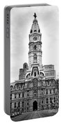 Philadelphia City Hall Building On Broad Street Portable Battery Charger