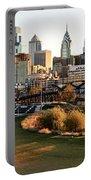 Philadelphia Cityscape From Penn Park In University City Portable Battery Charger