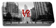 Philadelphia - Love Statue - Slective Coloring Portable Battery Charger