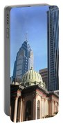 Philadelphia Street Level - Skyscrapers And Classical Building View Portable Battery Charger