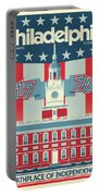 Philadelphia Poster - Independence Hall Portable Battery Charger
