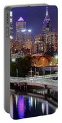 Philly In Panoramic View Portable Battery Charger