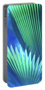 Photograph Of A Royal Palm In Blue Portable Battery Charger